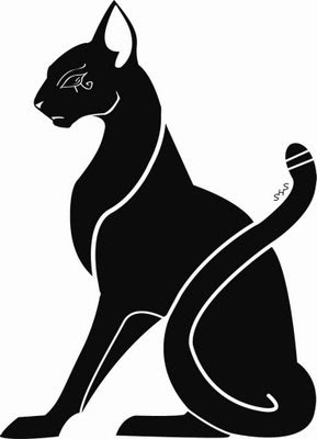 black cat tattoo design