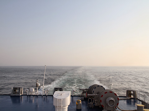 太平洋フェリー「いしかり」 2日目の朝