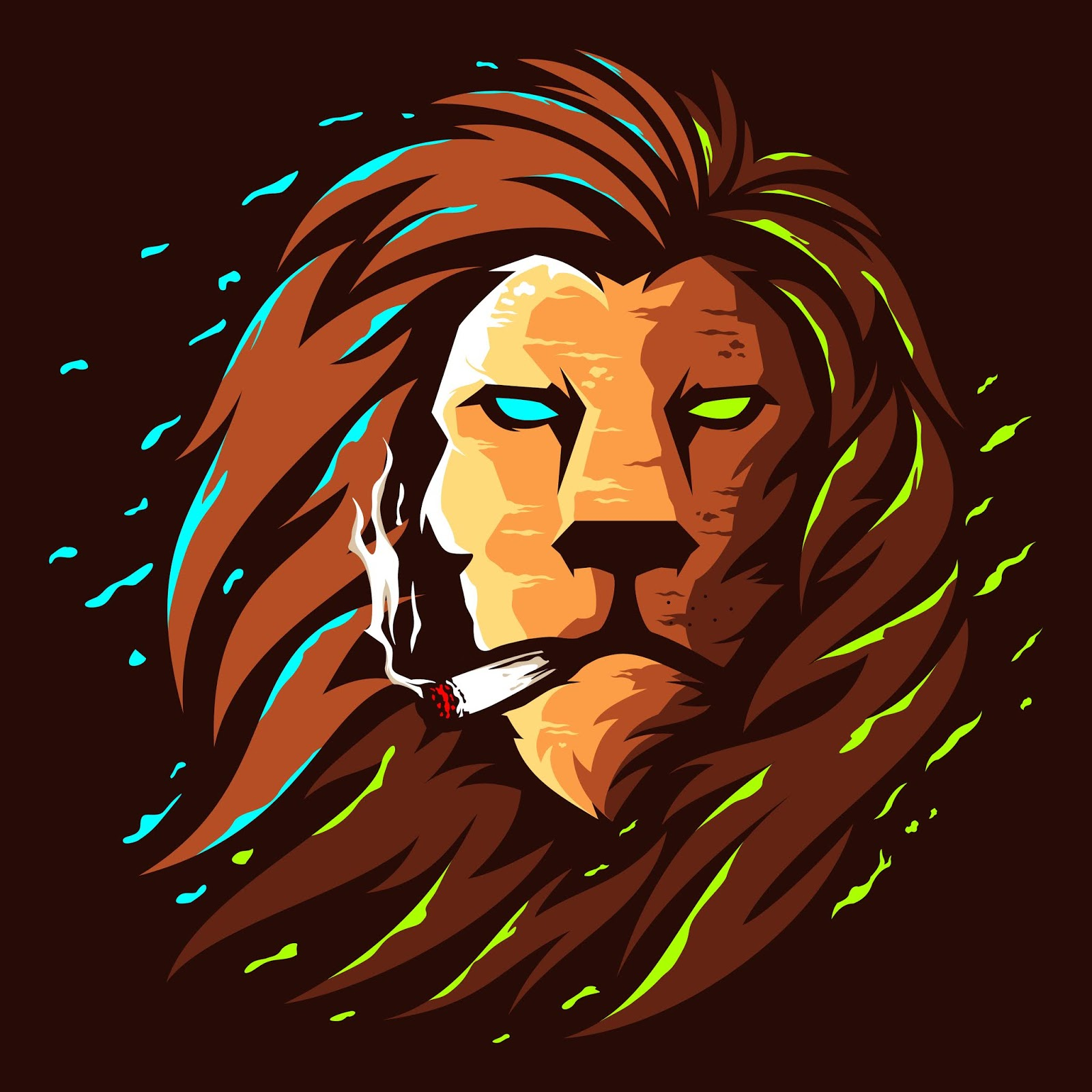 Lion Head Illustration Colour Logo Design Free Download Vector CDR, AI, EPS and PNG Formats