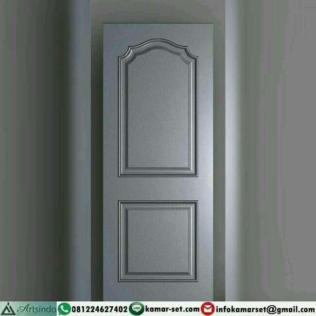 pintu warna putih minimalis sederhana
