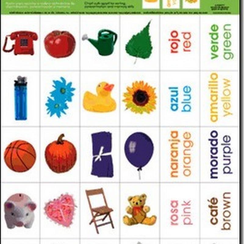 Inglés Fichas para trabajar los colores