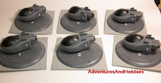 Tac Fighter Squadron on landing pads Science Fiction war game terrain and scenery