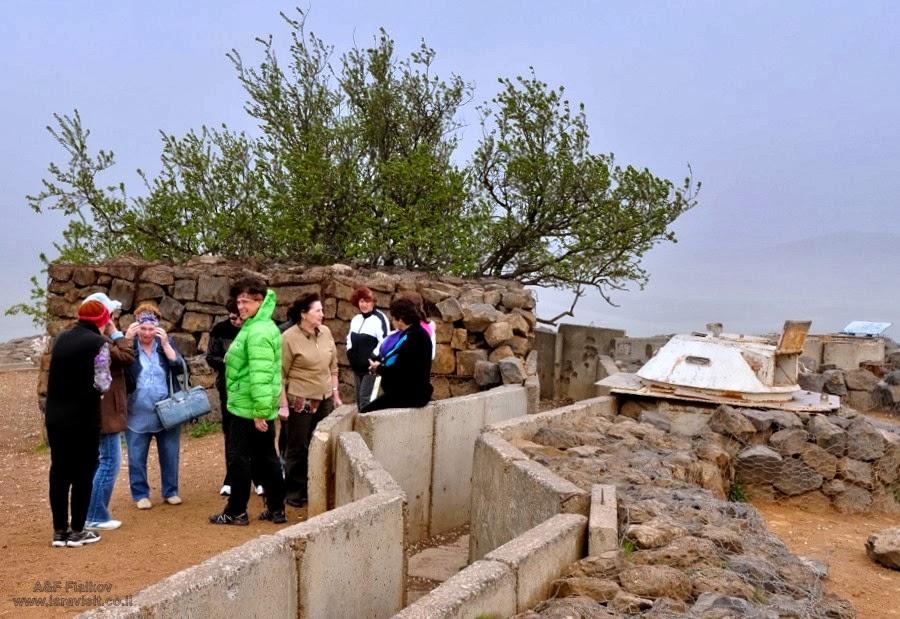 Гора Бенталь, мемориал войне Йом Кипур (Судный день) 1973 года. Экскурсия на Голанские высоты. Гид в Израиле Светлана Фиалкова
