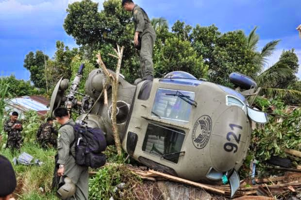 Helicopter Crash in Marawi, Mar Roxas is Safe & 2 injured 08_07_2014_01