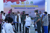 Kasal Dampingi Wapres RI Tinjau Vaksinasi Kedua di Ponpes An Nawawi Tanar