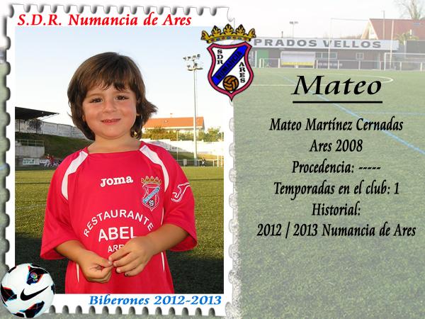 ADR Numancia de Ares. Mateo Martínez