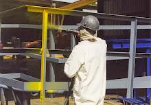 Angle Iron Handrail Painting