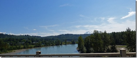 Quesnel River along the Cariboo Highway, BC