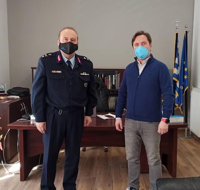 Με το νέο Αστυνομικό διευθυντή της Ημαθίας συναντήθηκε ο Δήμαρχος Νάουσας