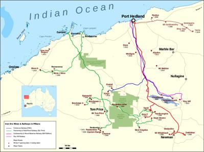Iron ore Pilbara train