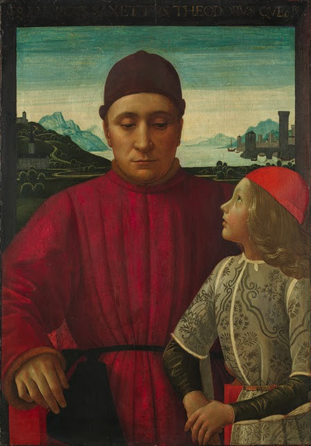 Domenico Ghirlandaio - Francesco Sassetti and His Son Teodoro, ca. 1488