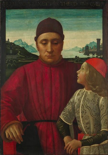 Domenico Ghirlandaio - Francesco Sassetti and His Son Teodoro, ca. 1488