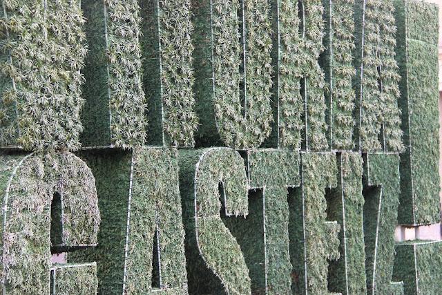 Escultura vegetal en Vitoria-Gasteiz (Detalle)