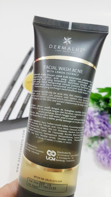 Review Dermaluz Facial Wash Acne with Ekstrak Lemon