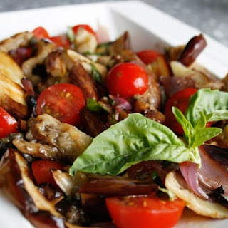 Grilled Eggplant And Tomato Salad.