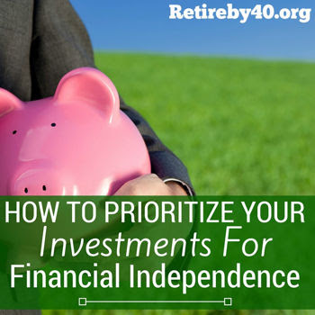 How to prioritize your investments for financial independence