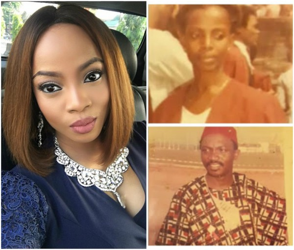 'My Parents joked about dying together and it happened' – Toke Makinwa Reveals