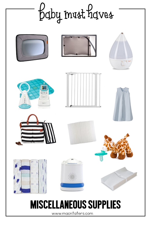 Miscellaneous Baby Must Haves
