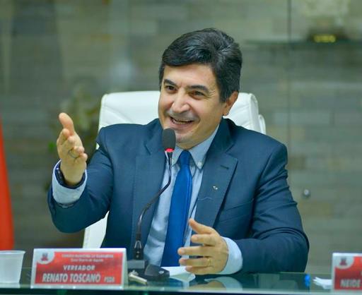 Vereador Renato Toscano assumirá presidência da Câmara Municipal de Guarabira