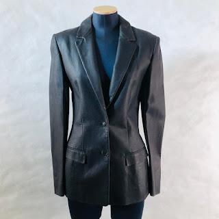 *SALE* Calvin Klein Collection Leather Blazer
