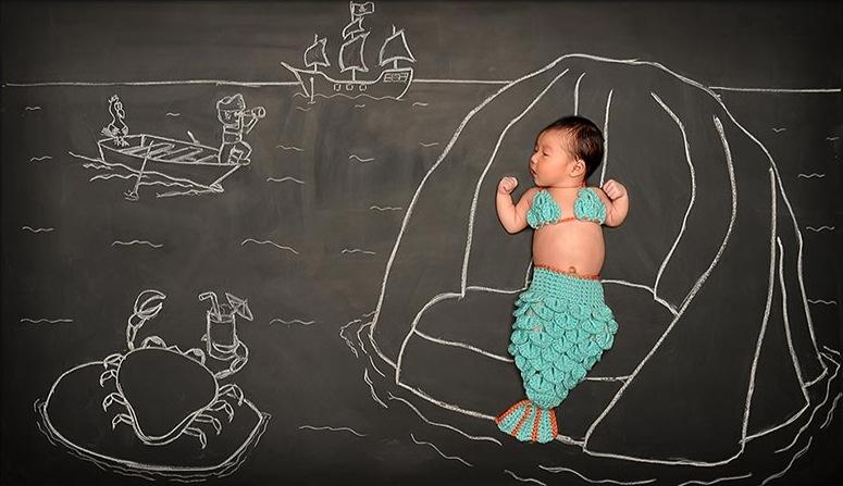 *嬰兒的奇幻黑板冒險:趁熟睡中惡搞一番! 3