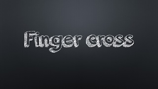 finger cross