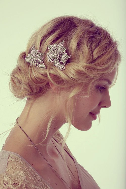 The trendy Wedding Hairstyles For And include hair color 2017 17