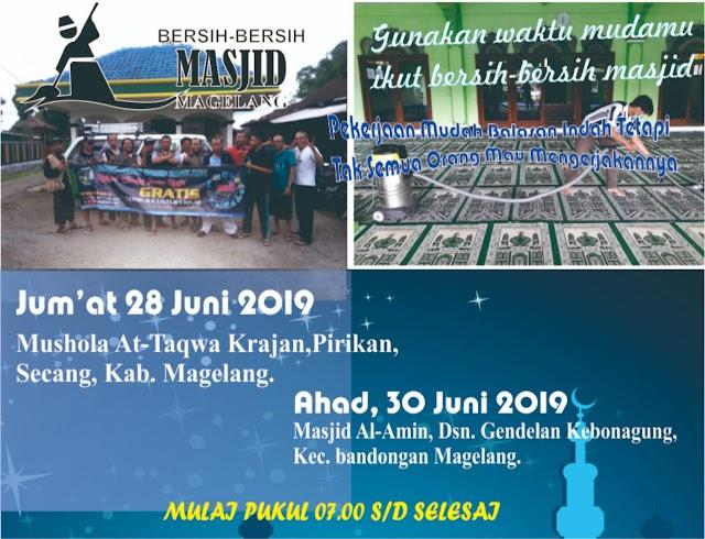 Bergabunglah dalam Kegiatan Bersih-Bersih Mushola At-Taqwa RT 08 RW 05 Krajan, Pirikan, Kecamatan Secang, Kabupaten Magelang
