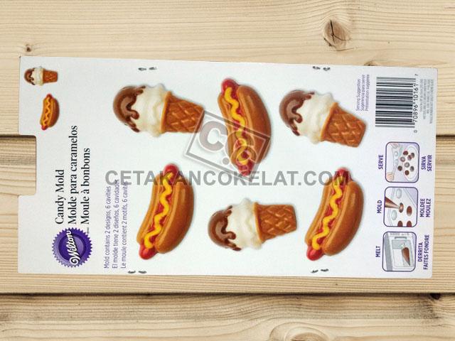 cetakan coklat cokelat silikon hotdog ice cream eskrim es krim wilton 2115-0161