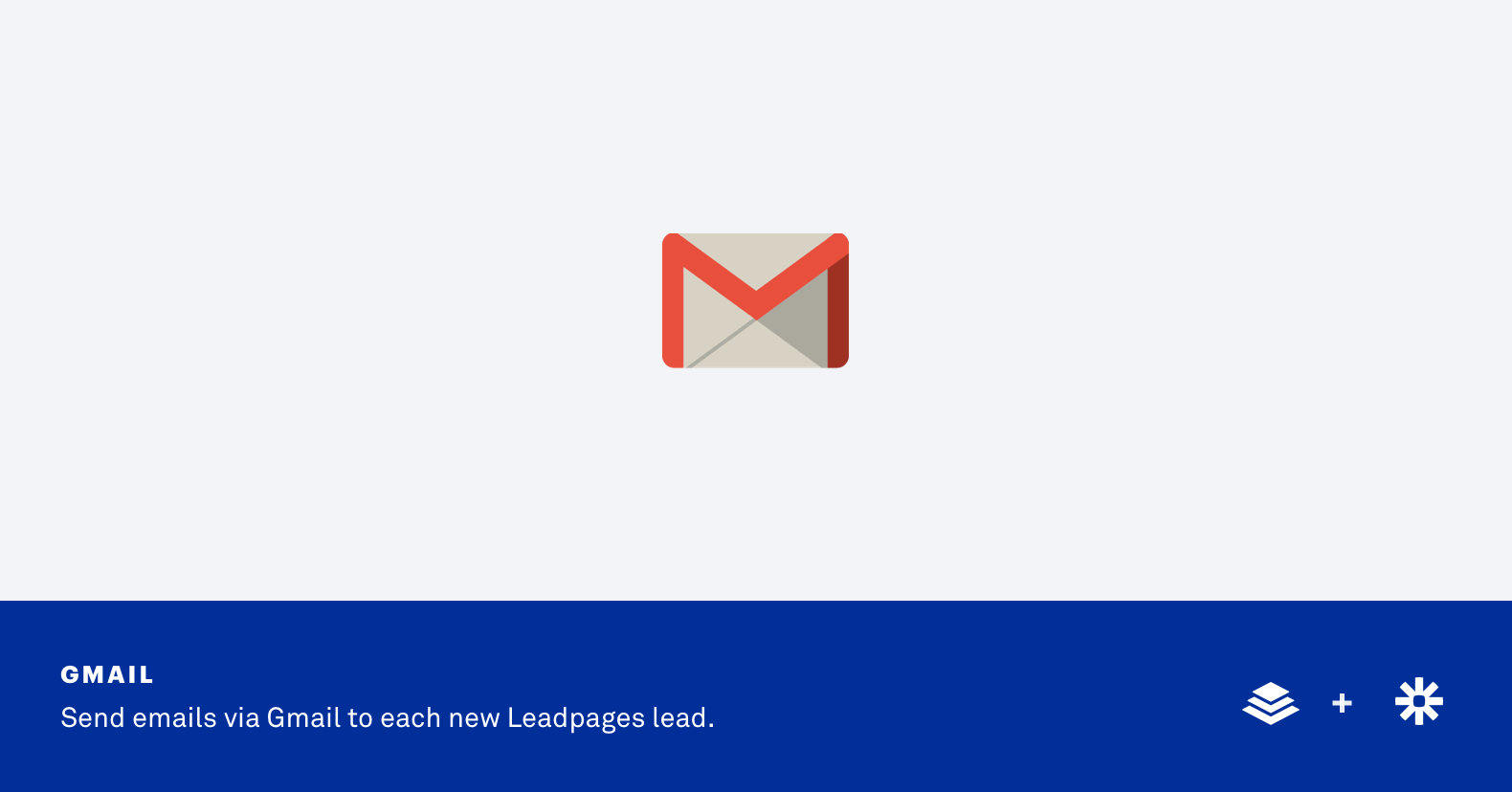 Integrate Gmail with Leadpages via Zapier Integration