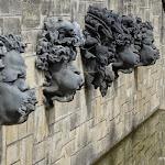 Cascades : mascarons, sculpteur Rodin