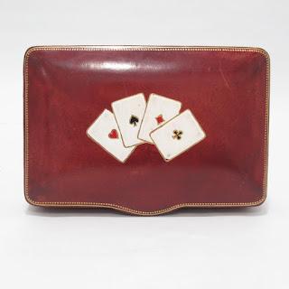 Italian Leather Card Box