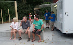 Bob M & Dave O hanging out by the beer trailer...