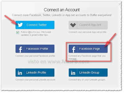 Conectar BufferApp a Facebook