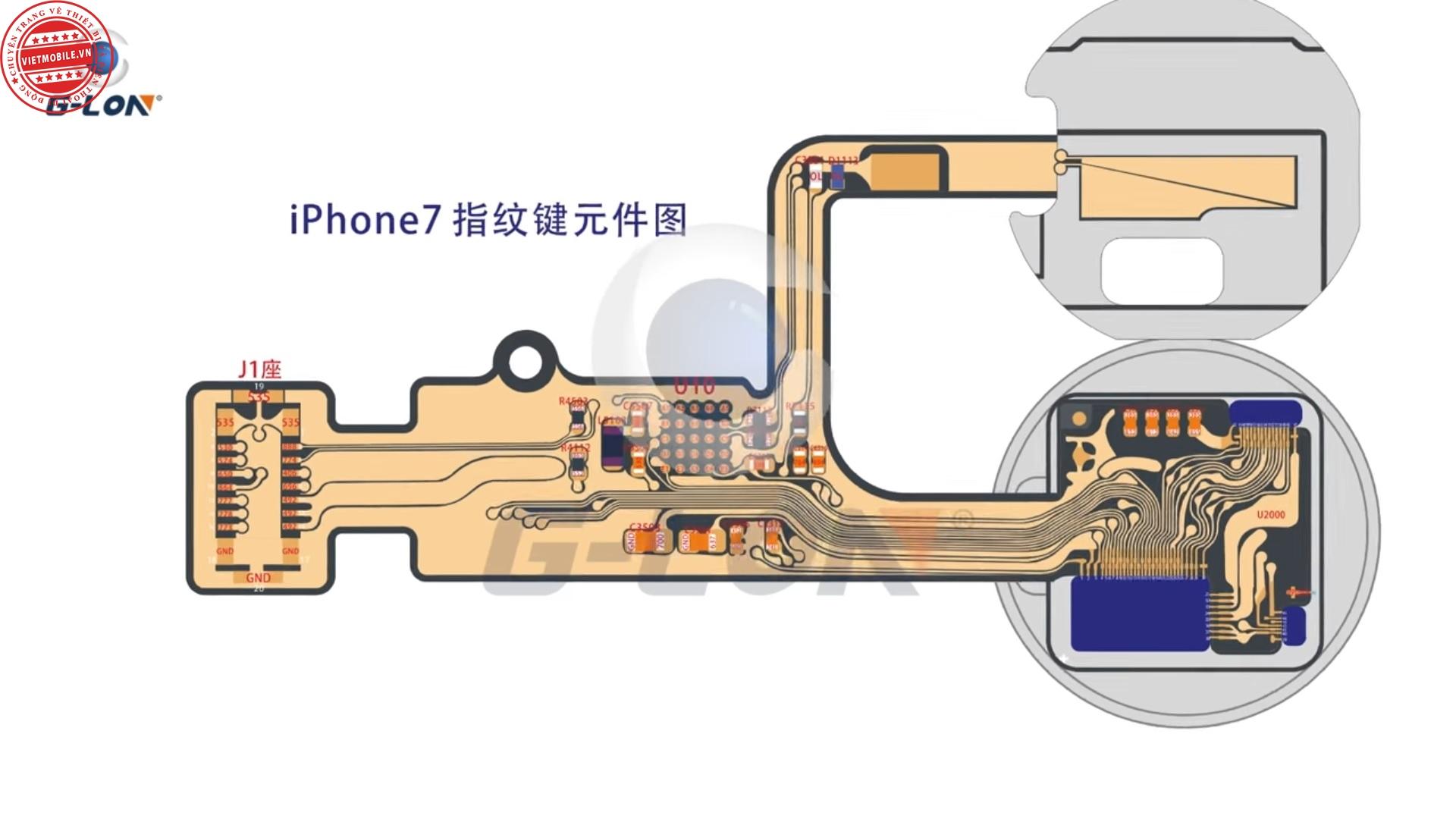 Chia sẻ - Sơ đồ mạch touch ID của iPhone 7 (iPhone 7 touch ...