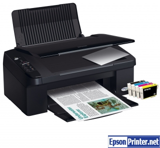 Reset Epson SX105 printing device with application