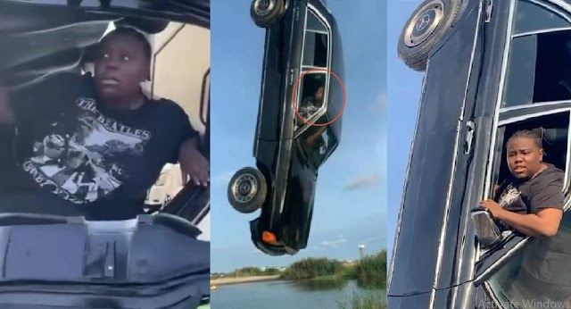 """""""No Kill me, Na Video i won Shoot o"""" — Singer, Teni cries out for Help as video director Hang her in a car (videos)"""