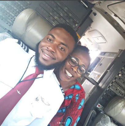 A University dropout who became a pilot flies mum