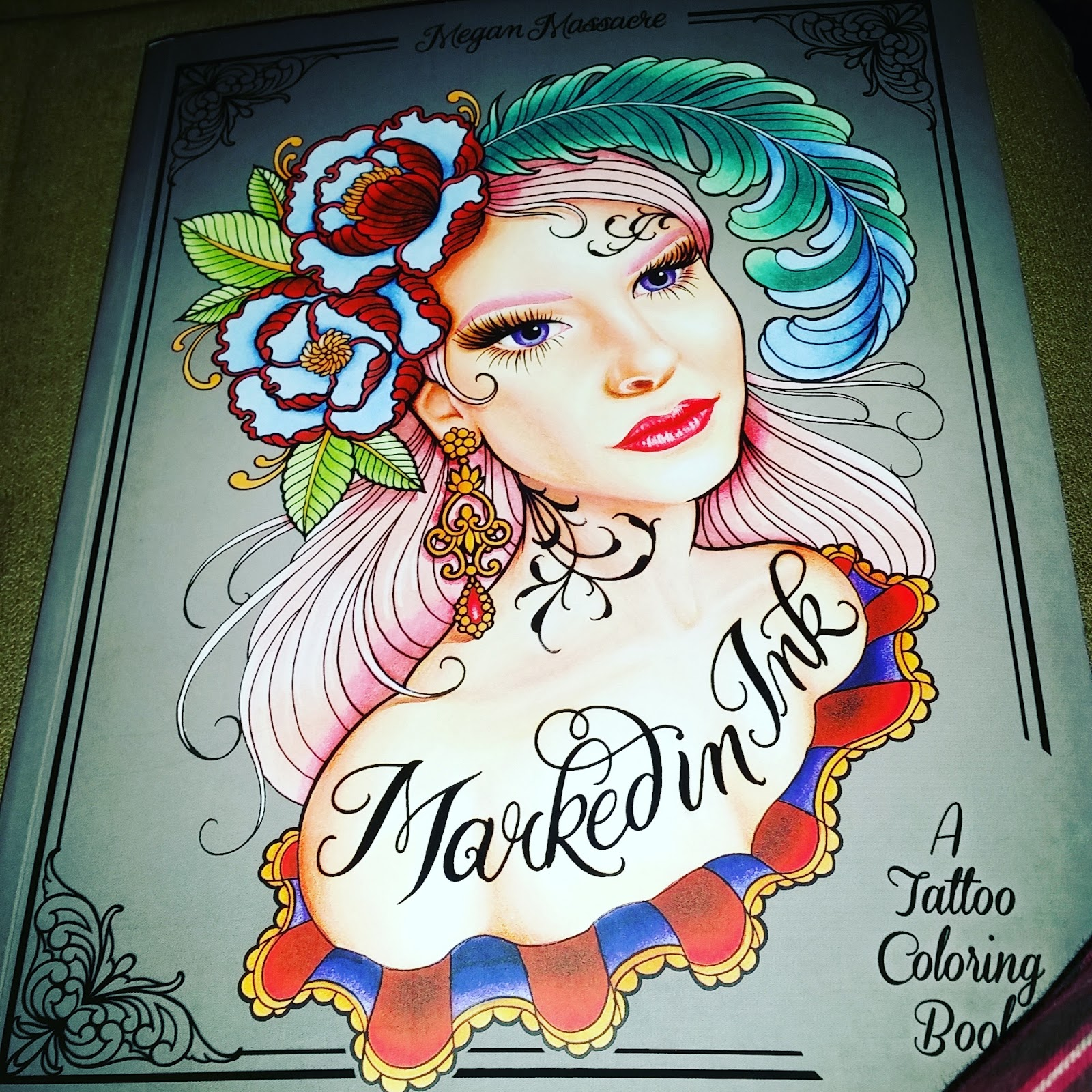 Tattoo Coloring Book Mini Review
