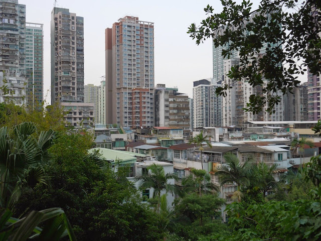 Northern view from Camões Garden in Macau