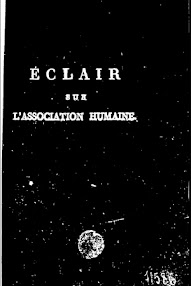 Cover of Louis Claude De Saint Martin's Book Eclair sur l'Association Humaine (1797,in French)