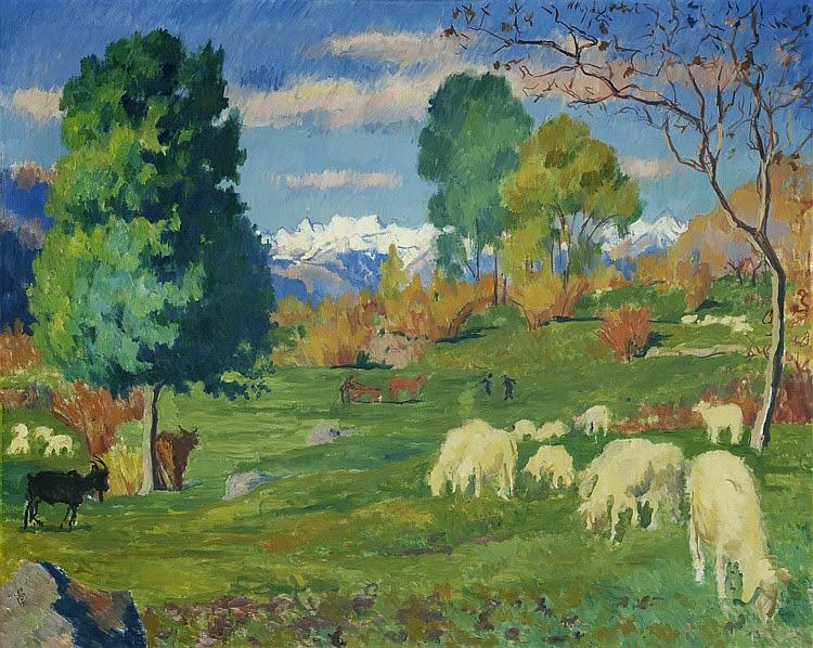 Giovanni Giacometti - Autumnal Landscape, 1932