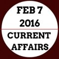 Current affairs February 2016,Daily current affairs update,Current Affairs BankExamsIndia