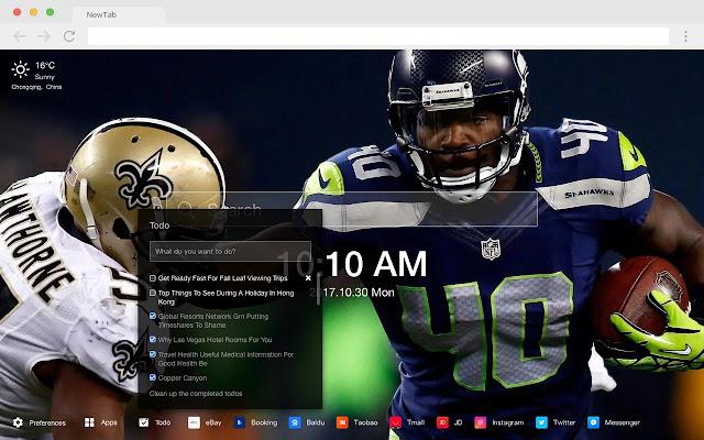 Seattle Seahawks NFL HD New Tabs Theme