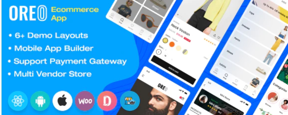 Oreo Fashion Shopping App Source Code