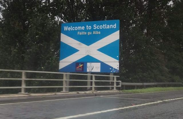 England / Scotland Border Sign