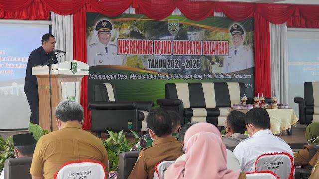 Ahsani Fauzan Sampaikan Pokok Pikiran DPRD Balangan dalam Musrenbang
