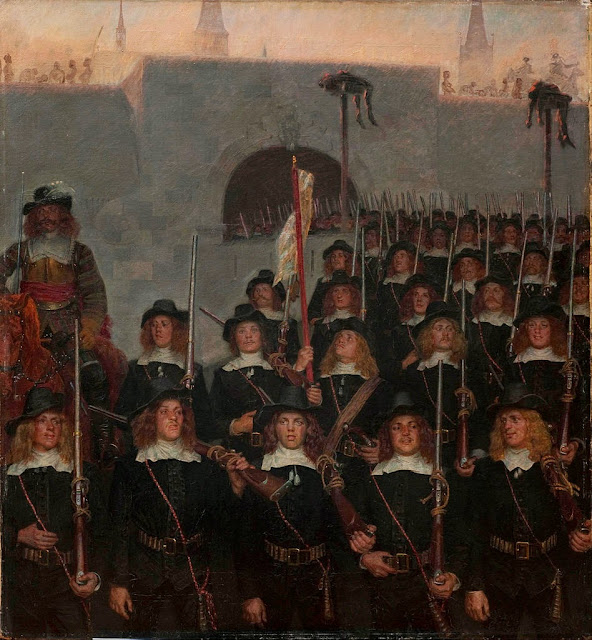 Kristian Zahrtmann - Students leave to defend Copenhagen in 1658 - Google Art Project