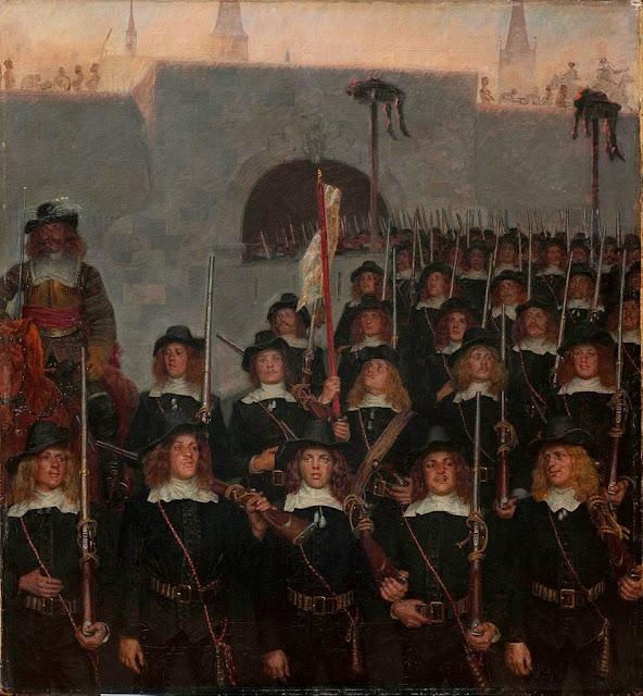 Kristian Zahrtmann - Students leave to defend Copenhagen in 1658 - Google Art Project