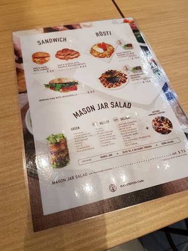 Sandwich and salad menu from Hattendo Cafe